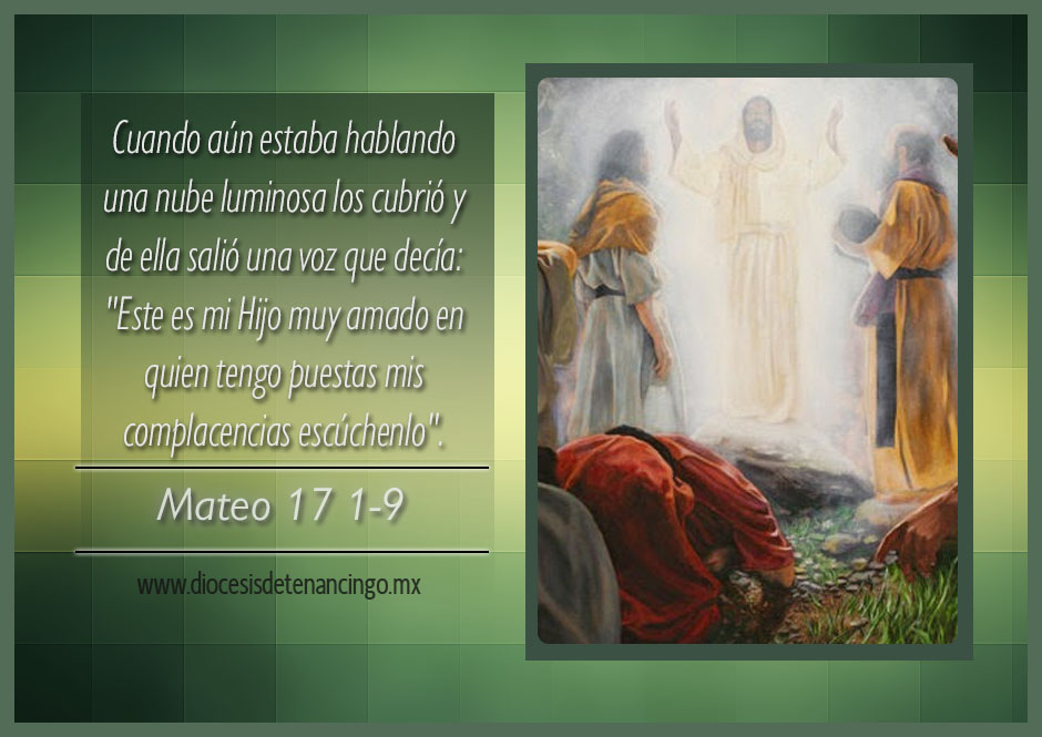 TEXTO, AUDIO y VIDEO – Evangelio 06 de Agosto 2017