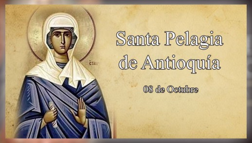 [ TEXTO, AUDIO y VIDEO ]  Santo del Dia - Santa Pelagia de Antioquía